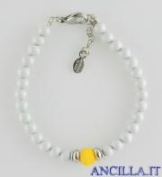Bracciale Bungles grigio e giallo