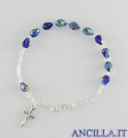 Bracciale cristallo goccia blu