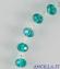 Bracciale decina in cristallo ovale 3x2 mm acqua