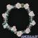Bracciale elastico rosellina resina bianca