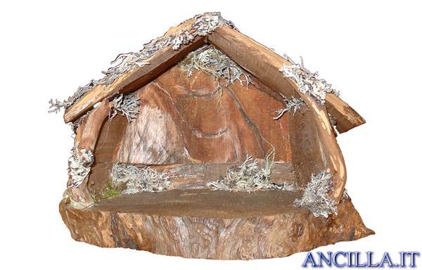 Capanna corteccia base rotonda (statuine 6 cm)