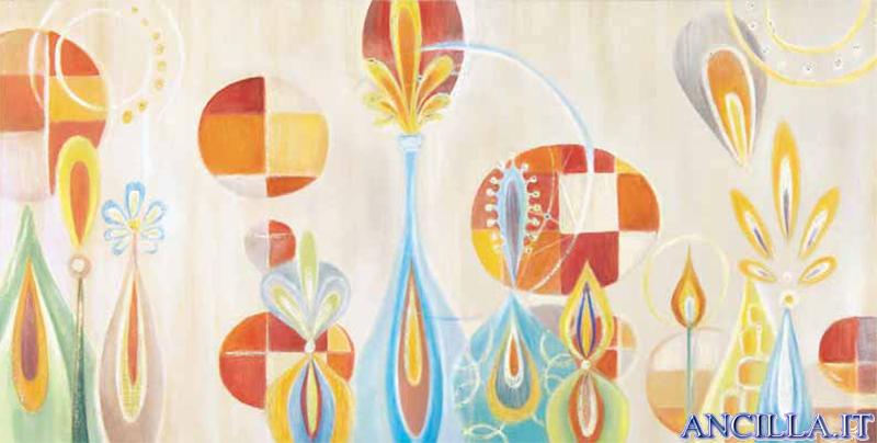 Carezze colorate - decorato su pannello piatto