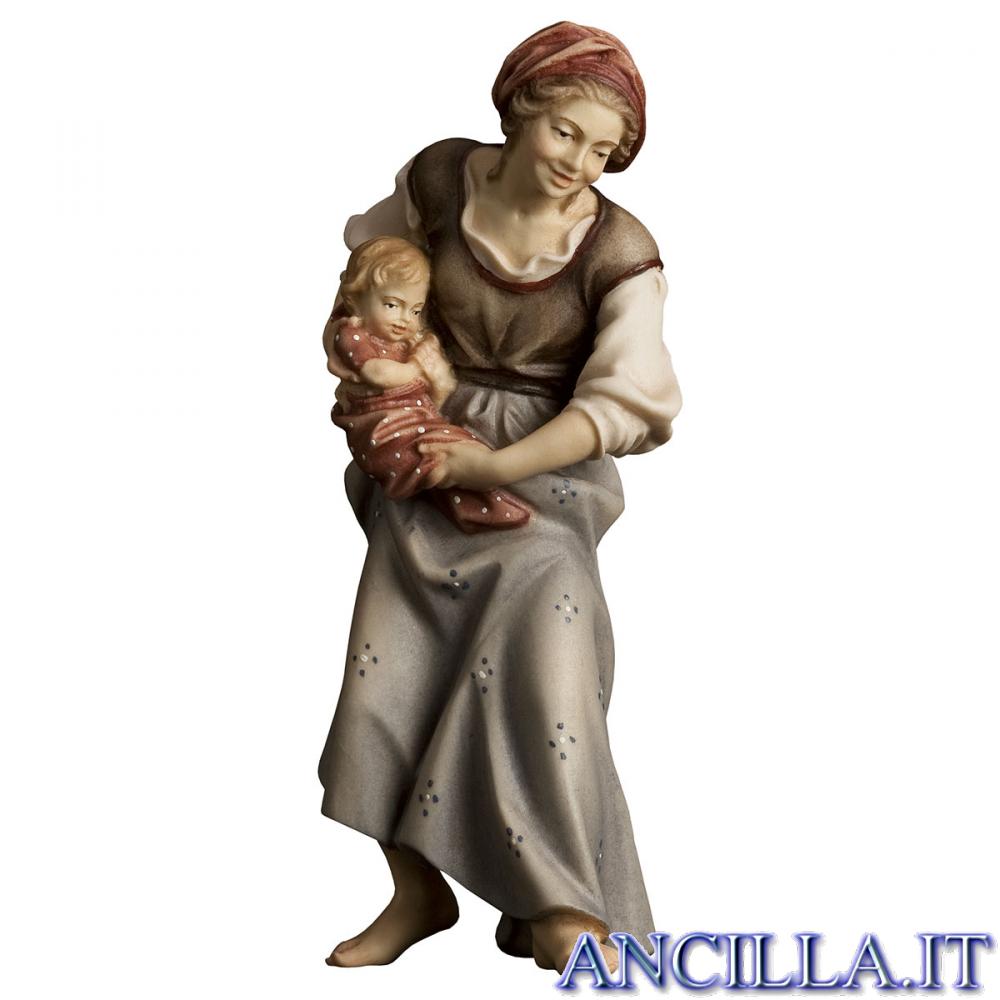 Contadina con neonato Ulrich serie 10 cm