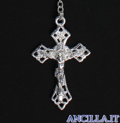 Corona del Rosario con grani in metallo filigranato