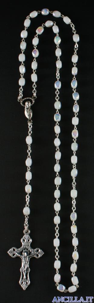 Corona del Rosario con grani in vetro pressato