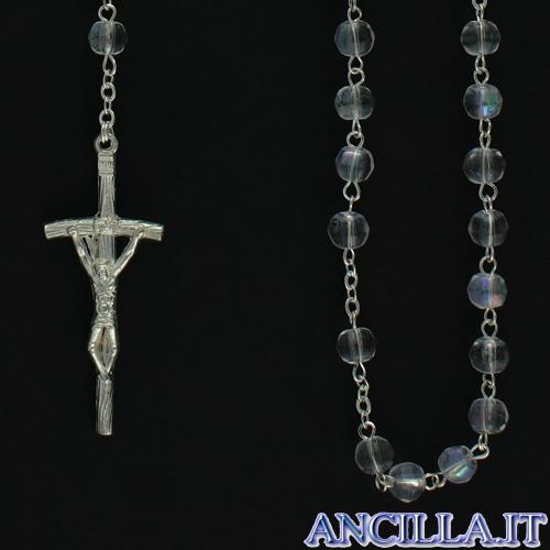 Corona del Rosario grani mezzo cristallo