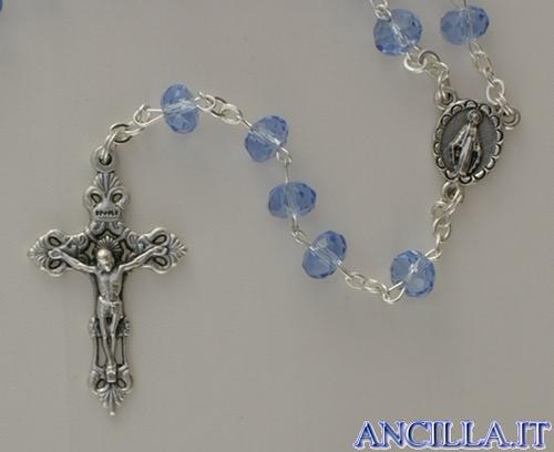 Corona del Rosario in cristallo sfaccettato aurorizzato