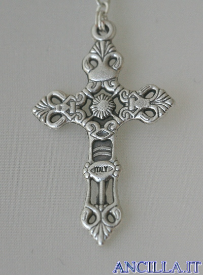 Corona del Rosario in resina gommosa