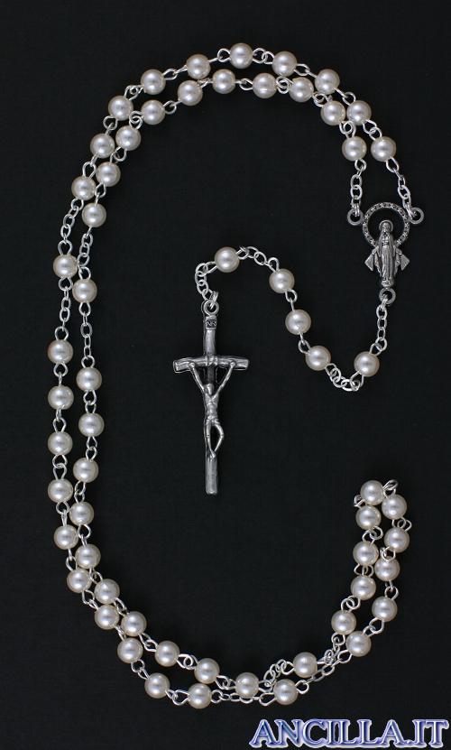 Corona del Rosario perla vetro cerato