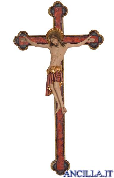 Cristo Cimabue su croce oro barocca