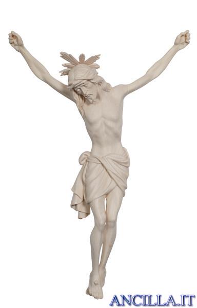 Cristo Siena con raggiera legno naturale non dipinto
