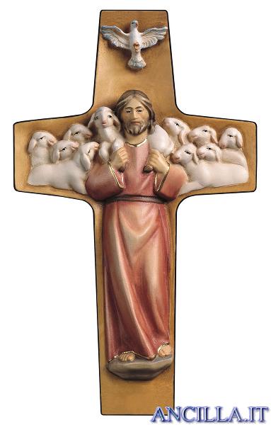 Croce Buon Pastore (rosso)