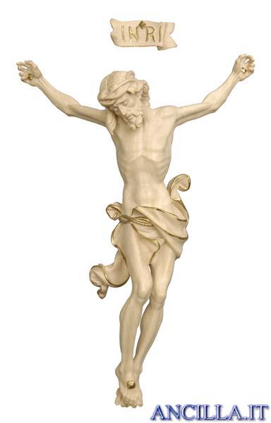 Crocifisso per processione Leonardo croce curva filo oro