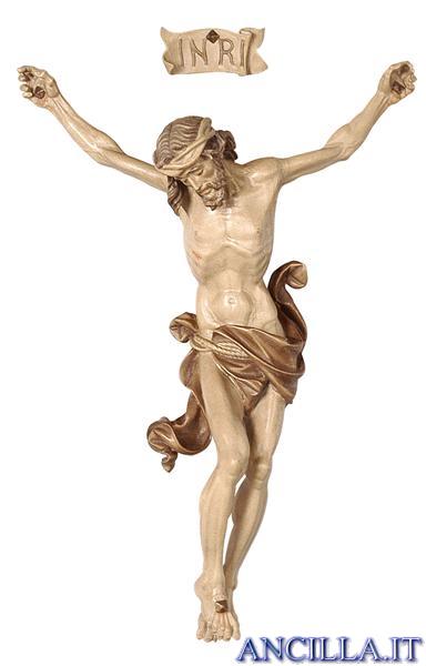 Crocifisso per processione Leonardo croce diritta brunito