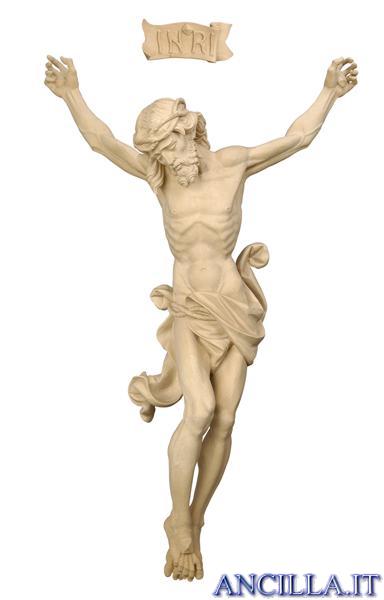 Crocifisso per processione Leonardo croce diritta naturale
