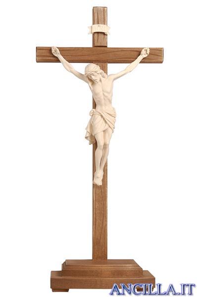 Crocifisso Siena naturale - croce diritta con base