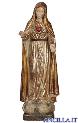 Cuore Immacolato di Maria anticato oro e argento