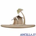 Capanna Famiglia Cometa con ampliamento (statuine 12 cm)
