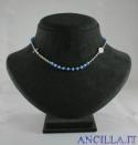 Collana 3 decine girocollo cristallo celeste opaco