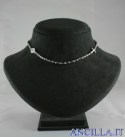 Collana 3 decine girocollo cristallo metallizzato