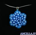 Collana con fiore stampo murrina azzurro
