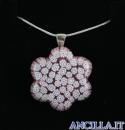 Collana con fiore stampo murrina rosa