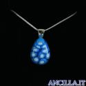 Collana con goccia stampo murrina azzurro