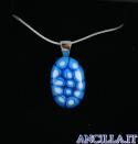 Collana con ovale stampo murrina azzurro