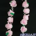 Corona del Rosario boccioli di rosa rosa