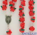 Corona del Rosario boccioli di rosa rossi
