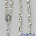 Corona del Rosario cloisonné grani 6 mm bianco