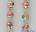 Corona del Rosario cloisonné grani 6 mm rosa