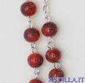 Corona del Rosario con grani in pasta di pietra rossa