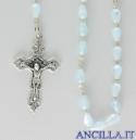 Corona del Rosario madreperla goccia celeste