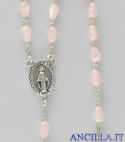 Corona del Rosario madreperla goccia rosa