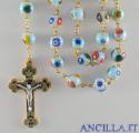 Corona del Rosario mosaico veneziano azzurro e oro