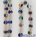 Corona del Rosario mosaico veneziano blu e oro