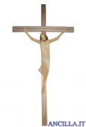 Corpo di Cristo stilizzato (bianco) su croce diritta moderna chiara