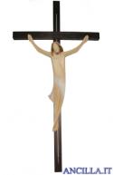 Corpo di Cristo stilizzato (bianco) su croce diritta moderna scura