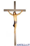 Corpo di Cristo stilizzato (blu) su croce diritta moderna chiara