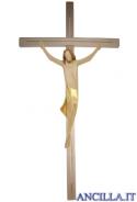 Corpo di Cristo stilizzato (dorato) su croce diritta moderna chiara