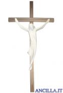Corpo di Cristo stilizzato (naturale) su croce diritta moderna chiara