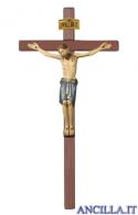 Cristo San Damiano dipinto a olio su croce diritta