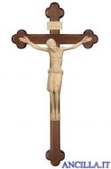 Cristo San Damiano naturale su croce brunita barocca