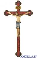Cristo San Damiano su croce oro zecchino barocca