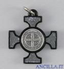 Croce celtica legno nero e smalto argento