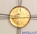 Croce in vetro con bottone dorato e raggi