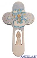 Crocetta colorata angelo che suona la cetra