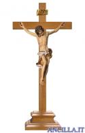 Crocifisso Barocco con base d'appoggio (bianco)