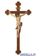 Crocifisso Barocco su croce barocca (bianco)